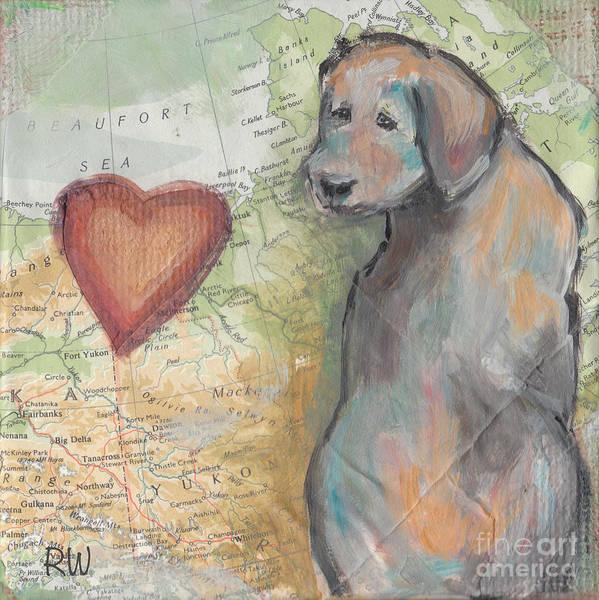 Wall Art - Painting - My Heart's In Alaska by Robin Wiesneth