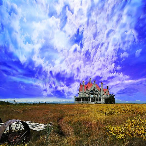Purple Rain Digital Art - My House On A Hill by Jeff Burgess