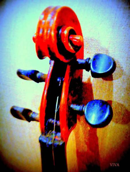 Photograph - My Hyper Violin 2 by VIVA Anderson