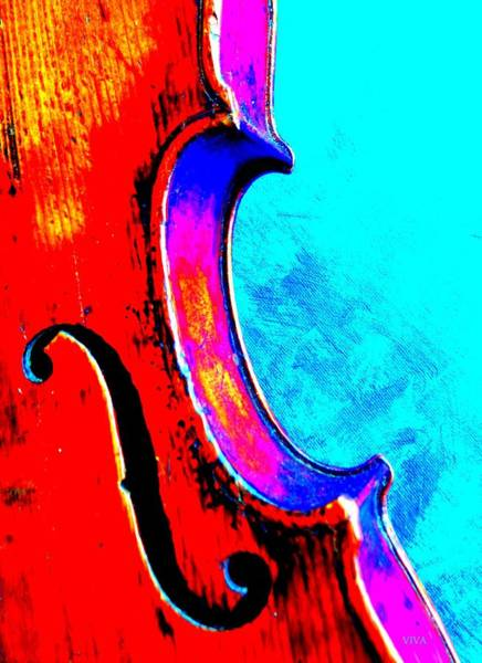 Photograph - My Hyper Violin by VIVA Anderson