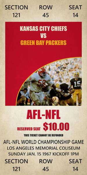 Chiefs Photograph - My Kansas City Chiefs Super Bowl Ticket by Joe Hamilton