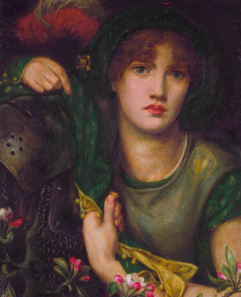 Pre-raphaelite Brotherhood Painting - My Lady Greensleeves by Dante Gabriel Rossetti
