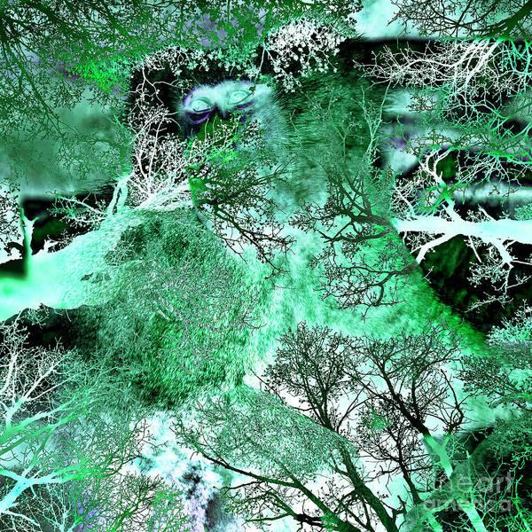 Digital Art - My Life In The Green Bush Of Ghosts by Silva Wischeropp