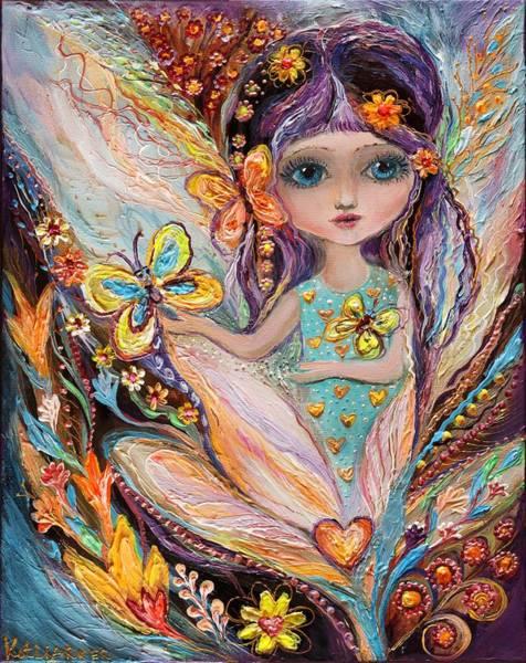 Wall Art - Painting - My Little Fairy Pearlie by Elena Kotliarker