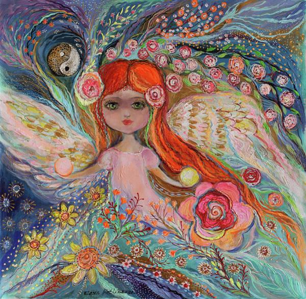 Wall Art - Painting -  My Little Fairy Yang by Elena Kotliarker