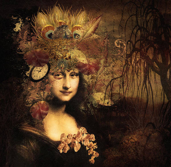 Mixed Media - My Little Secret - Mona Lisa by Isabella Howard