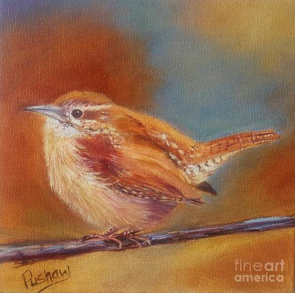 Wren Painting - My Little Wren by Patricia Pushaw