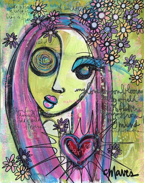 Painting - My Love For You Blooms by Laurie Maves ART