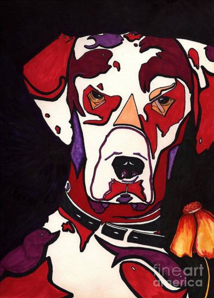 Black Great Dane Painting - My Manchas  by Suzi Gessert