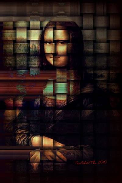 Painting - My Mona Lisa  Weave Series by Teodoro De La Santa
