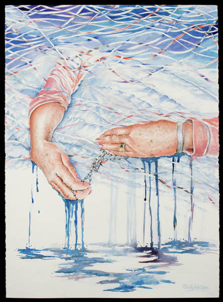 Remembrance Painting - My Mother's Hands by Carolyn Coffey Wallace