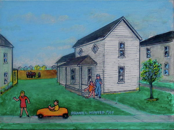 Painting - My Mowrystown Home 1941 by Frank Hunter
