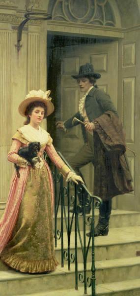 Bonnet Painting - My Next Door Neighbor by Edmund Blair Leighton