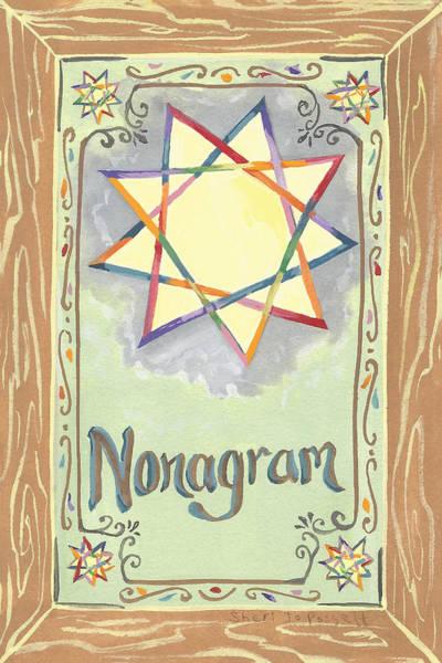 Painting - My Nonagram by Sheri Jo Posselt
