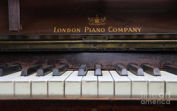 Vintage Conway Photograph - My Old Piano by Tom Conway