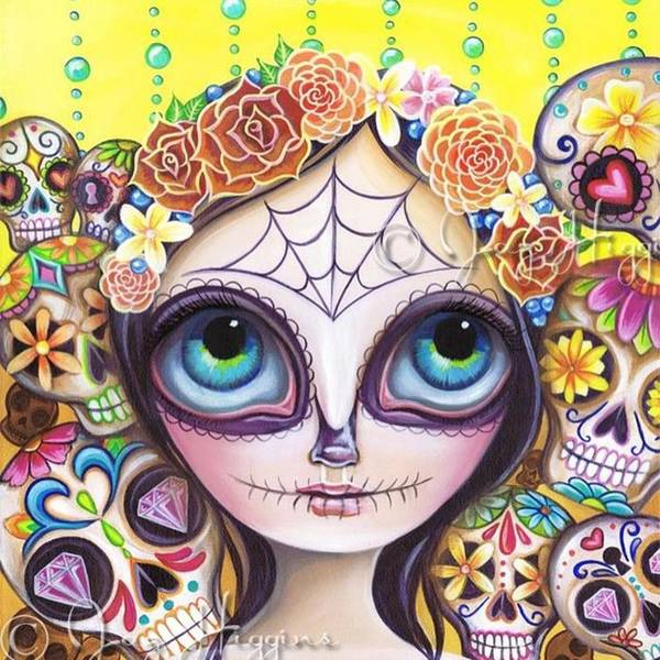 Fantasy Wall Art - Photograph - My Original sugar Skull Princess by Jaz Higgins