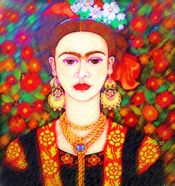 Painting - My Other Frida  by Madalena Lobao-Tello