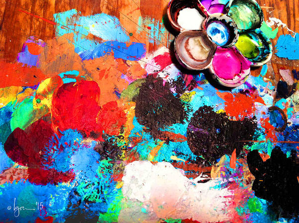 Painting - My Palette by Angela Treat Lyon