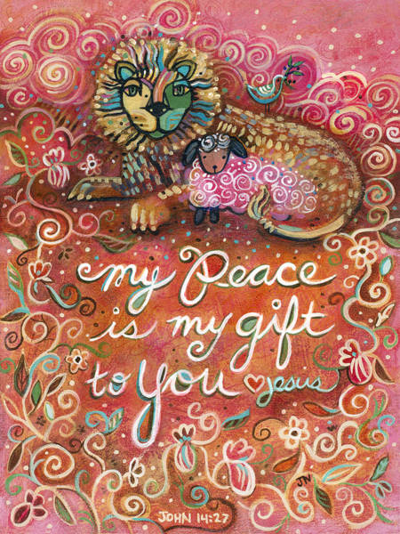 Communion Painting - My Peace Is My Gift by Jen Norton