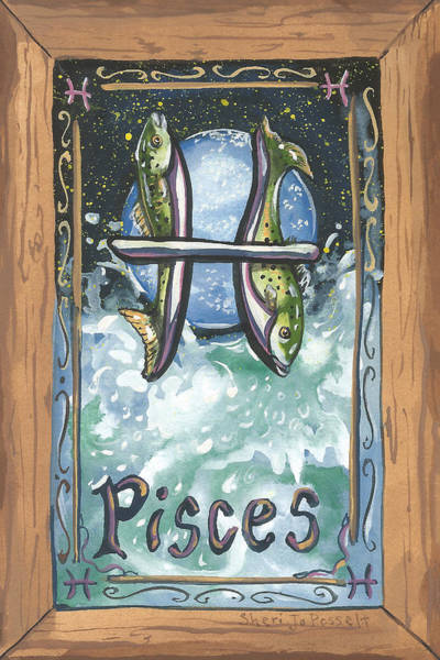 Painting - My Pisces by Sheri Jo Posselt