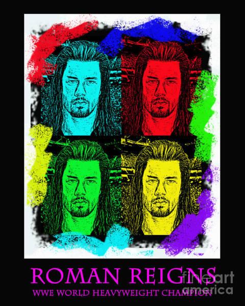 Wall Art - Digital Art - My Prediction For The World Heavyweight Championship Winner Of Wrestlemania 2015 Roman Reigns by Jim Fitzpatrick