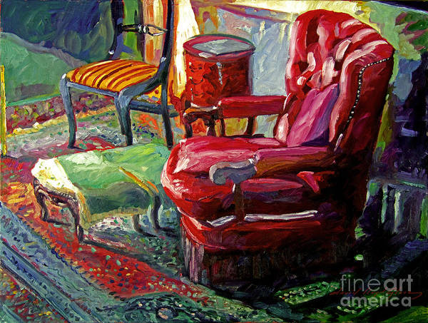 Painting - My Red Reading Chair by David Lloyd Glover