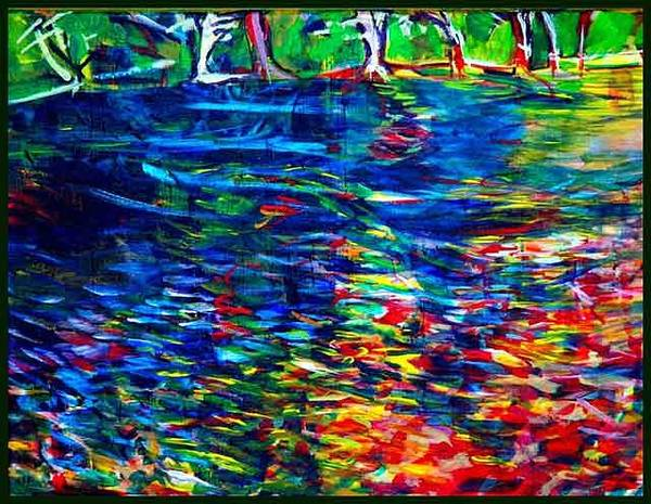Allman Painting - My River by Andreea Allman