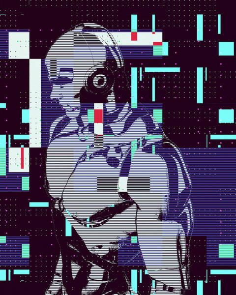 Digital Art - My Robot by Anthony Murphy