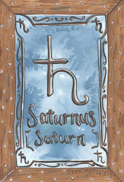 Painting - My Saturn by Sheri Jo Posselt