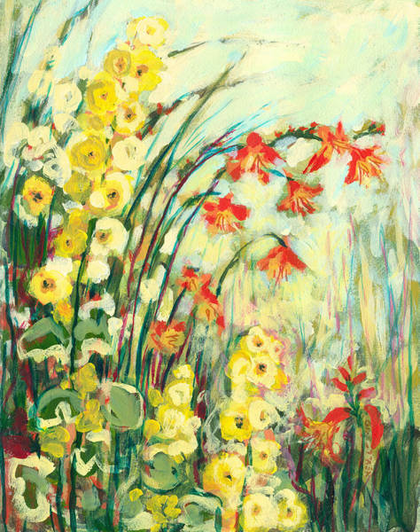 Acrylic Wall Art - Painting - My Secret Garden by Jennifer Lommers