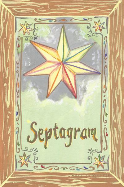 Painting - My Septagram by Sheri Jo Posselt