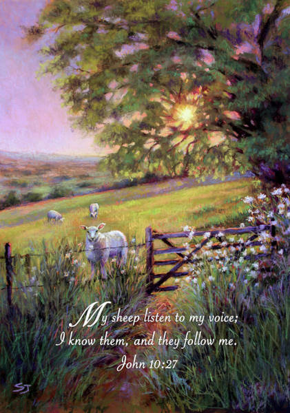 Painting - My Sheep Hear My Voice by Susan Jenkins