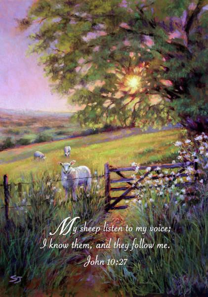 Lamb Of God Wall Art - Painting - My Sheep Hear My Voice by Susan Jenkins