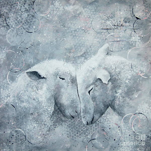 Painting - My Sheep Hear My Voice by Tamyra Crossley