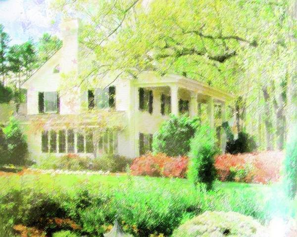 Mansion Mixed Media - My Southern Home by Florene Welebny