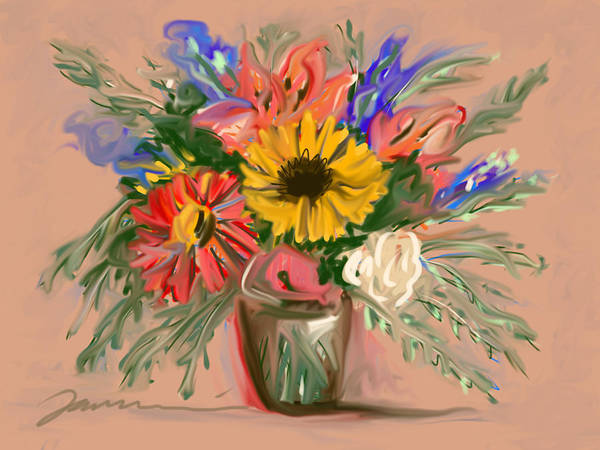 Painting - My Special Flowers by Jean Pacheco Ravinski