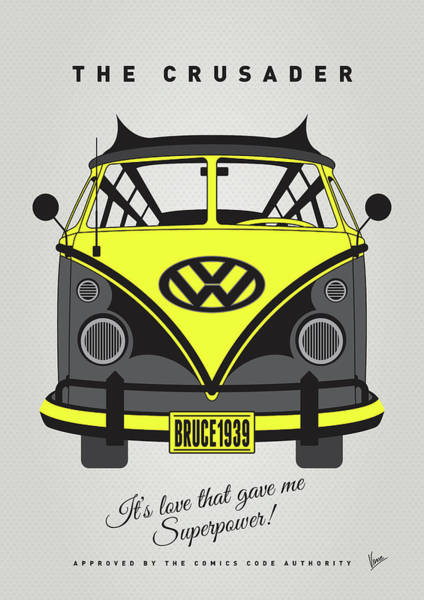 Wall Art - Digital Art - My Superhero-vw-t1-batman by Chungkong Art