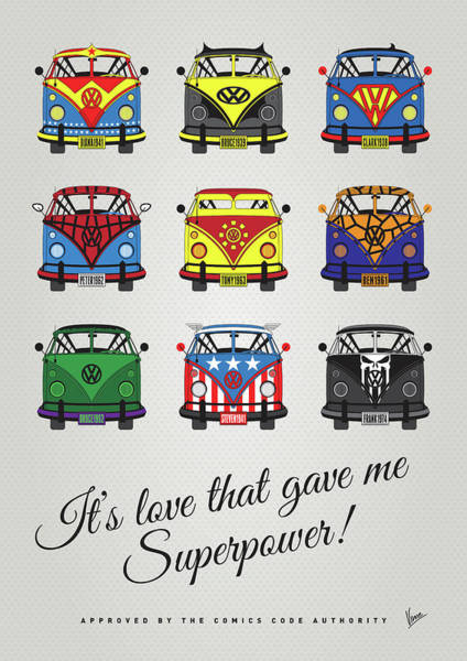 Wall Art - Digital Art - My Superhero-vw-t1-supermanmy Superhero-vw-t1-universe by Chungkong Art