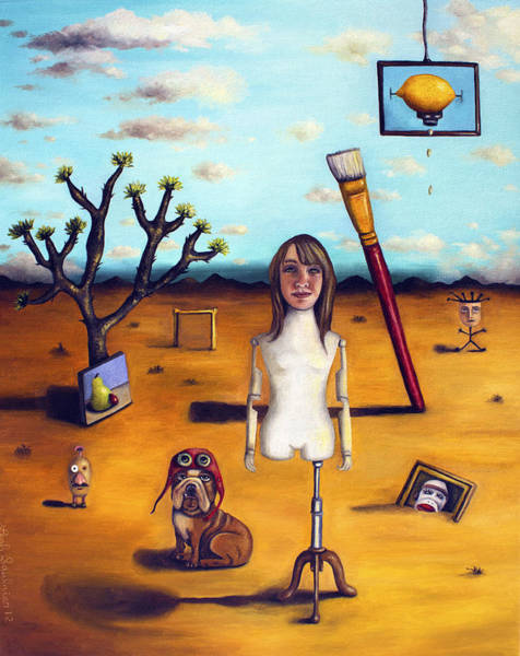 Sock Monkey Painting - My Surreal Life by Leah Saulnier The Painting Maniac