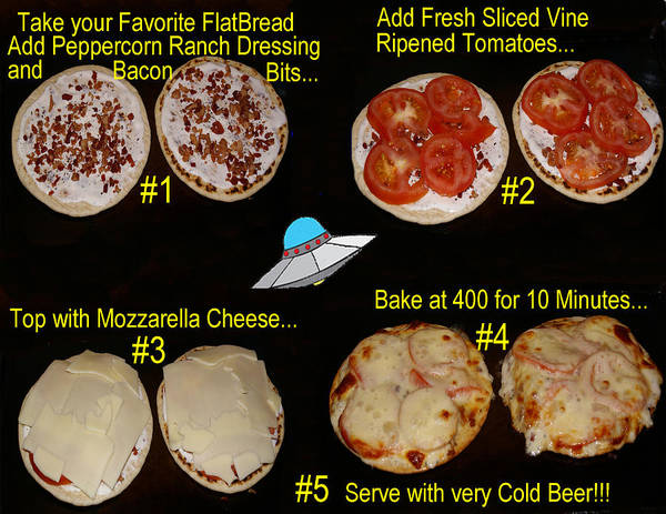 Photograph - My Top Secret Recipe For Ufo Pizza by Ben Upham III