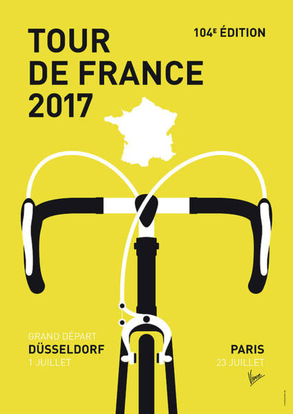 Bike Digital Art - My Tour De France Minimal Poster 2017 by Chungkong Art