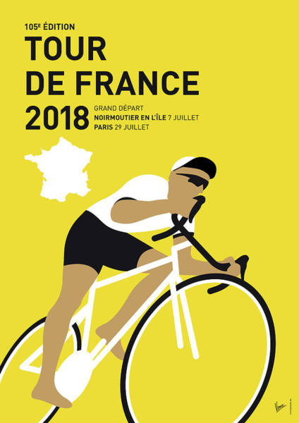 Bike Digital Art - My Tour De France Minimal Poster 2018 by Chungkong Art