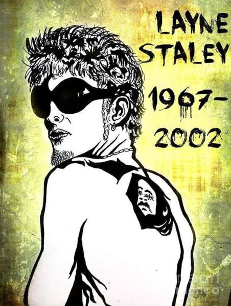 Layne Staley Wall Art - Drawing - My Tribute To Layne Staley by Tarisa Smith