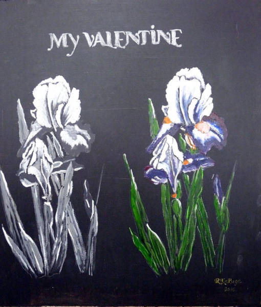 Painting - My Valentine by Richard Le Page