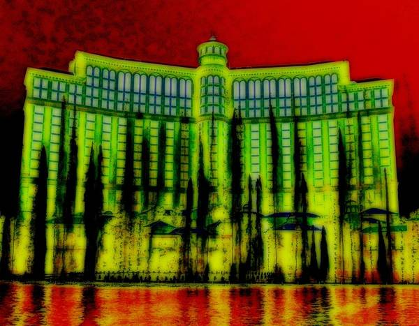 Lagoon Digital Art - My Vegas Bellagio 5 by Randall Weidner