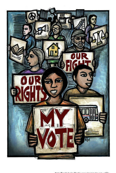 Rights Mixed Media - My Vote by Ricardo Levins Morales