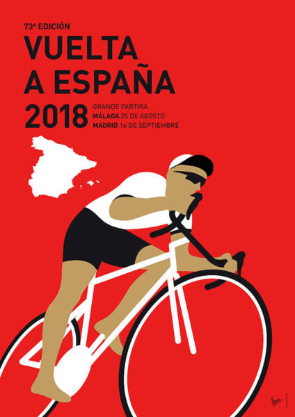 Wall Art - Digital Art - My Vuelta A Espana Minimal Poster 2018 by Chungkong Art