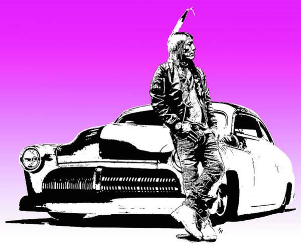 Indian Brave Digital Art - My War Pony by Robert Martinez