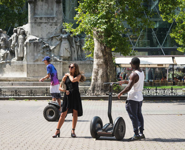 Photograph - My Way Or The Segway by Alex Lapidus
