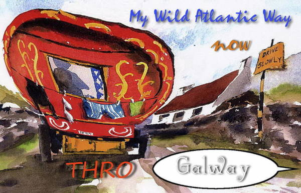 Painting - My Wild Atlantic Way....galway by Val Byrne